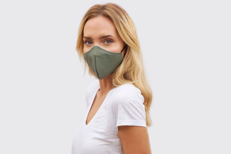 Mascarilla básica para mujer color verde
